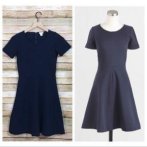 J. Crew Factory Ponte Flare Dress - Blue - Size 00